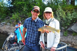 D.B.O. Guide Quinn Styles with a happy client on The Elk River