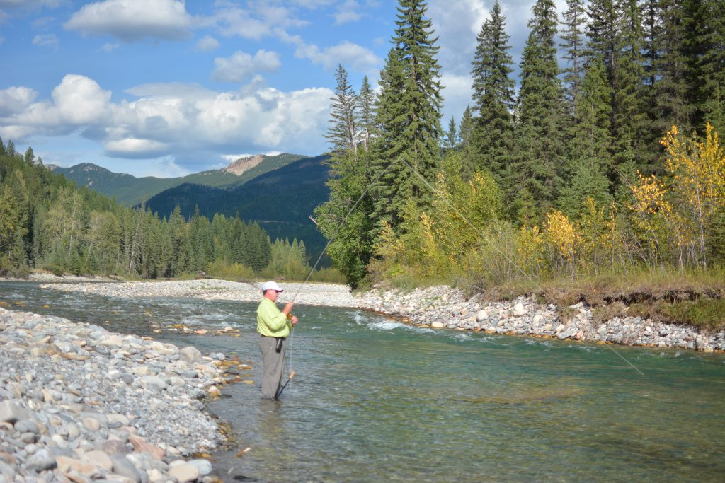 Fly-Fishing  The Bull River B.C.