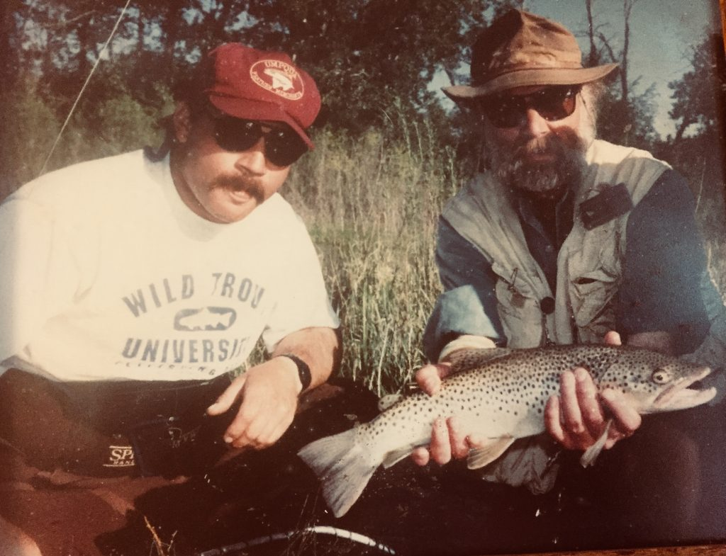 dc7f2084a164 Outfitter Dave Brown with Angling Author John Gierach on The Bow River –  back in the day